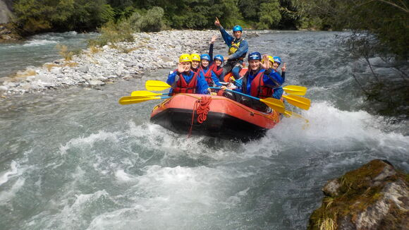 "River rafting on the river ""Saane"""